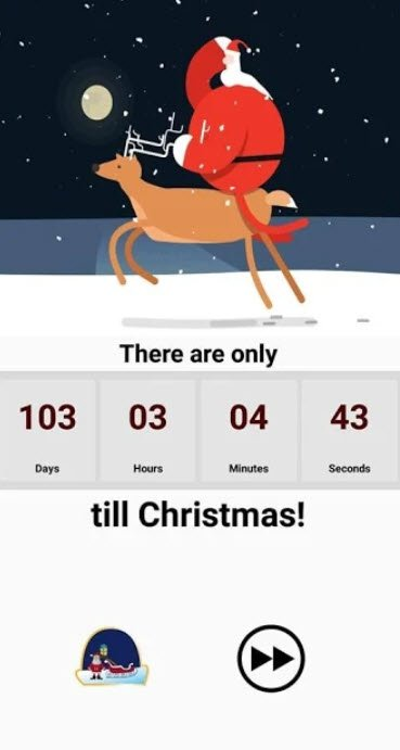 christmas carols countdown app