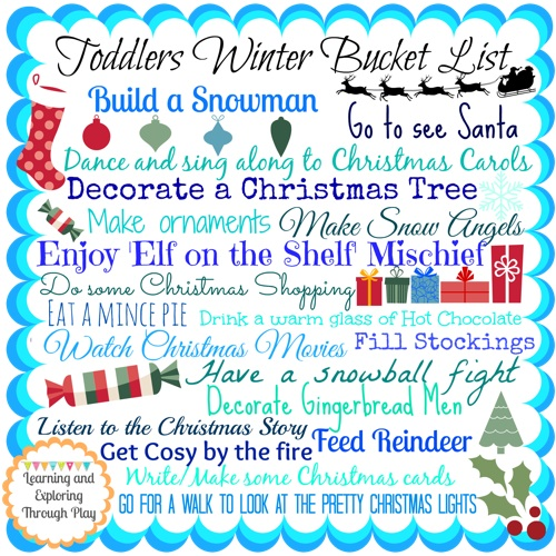Winter Bucket List For Toddlers