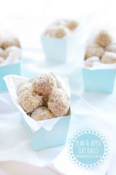 pear and apple balls