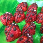 strawberry ladybirds