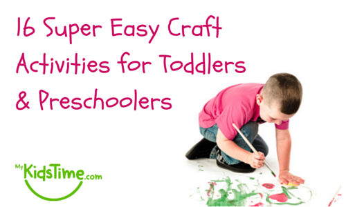 16 Super Easy Craft Activities For Toddlers Preschoolers