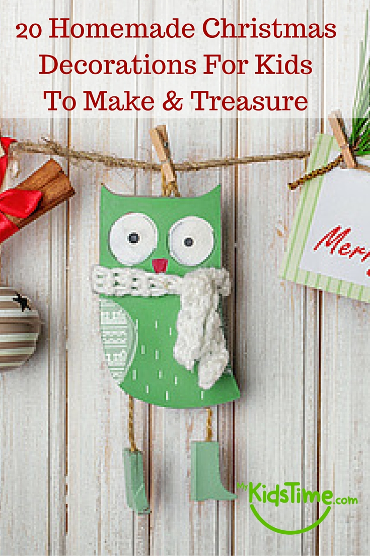 Christmas decorations diy kids for Easy to make christmas decorations at home
