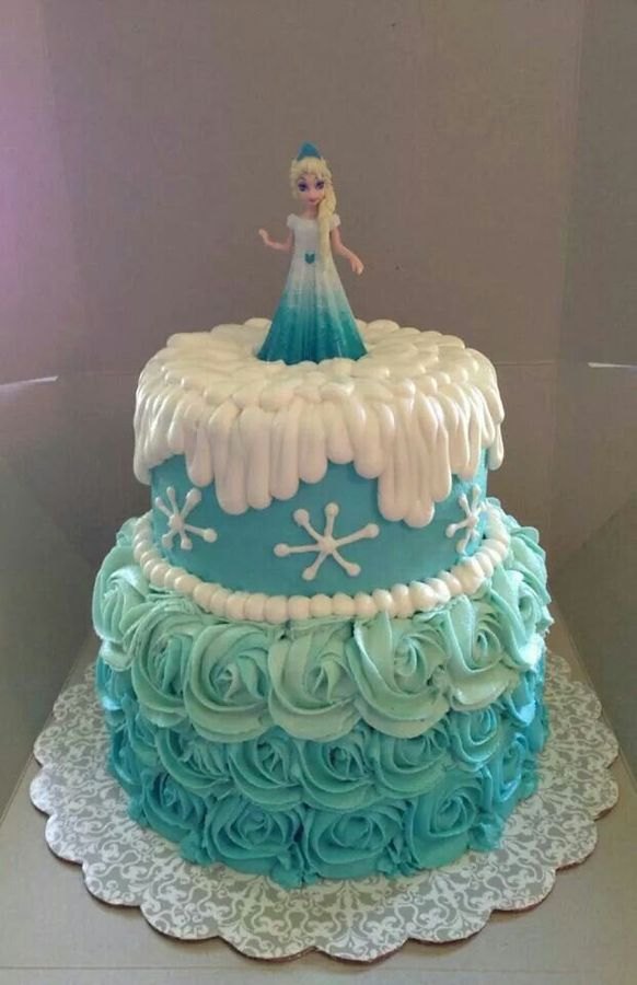 Icing A Frozen Cake With Fondant