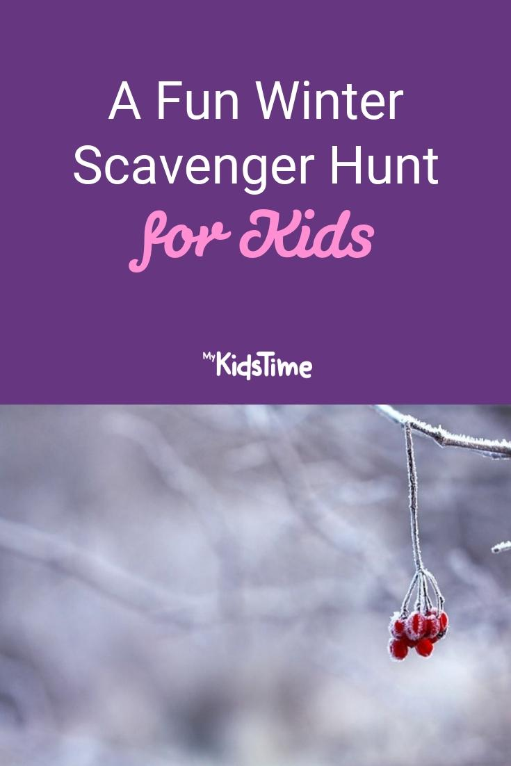 winter scavenger hunt for kids