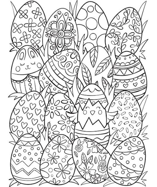 Fun and FREE Easter Colouring Pages for Kids to Enjoy