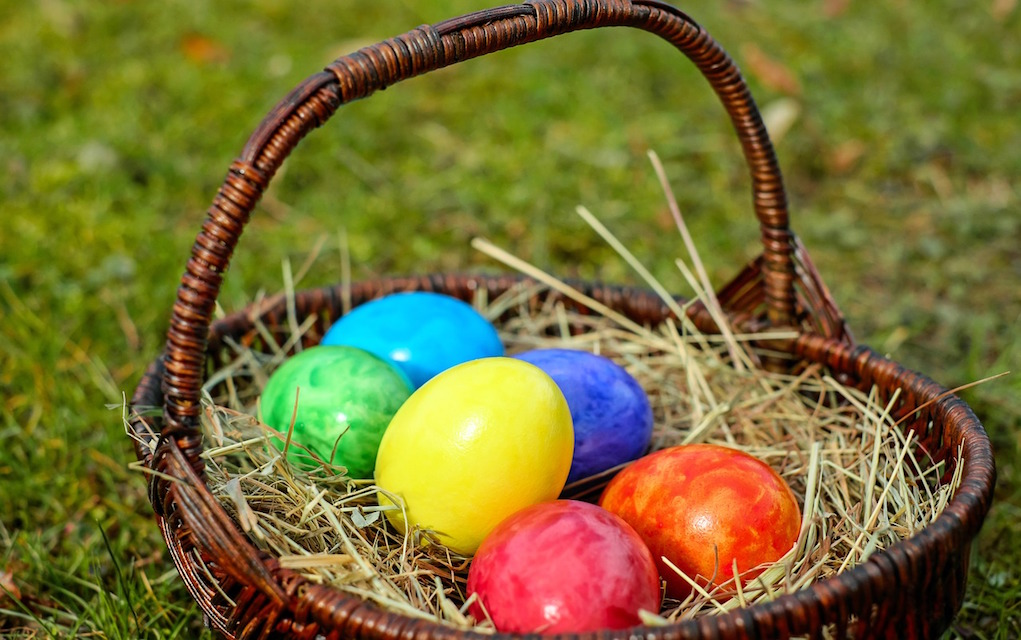 Easter egg hunt ideas filled eggs