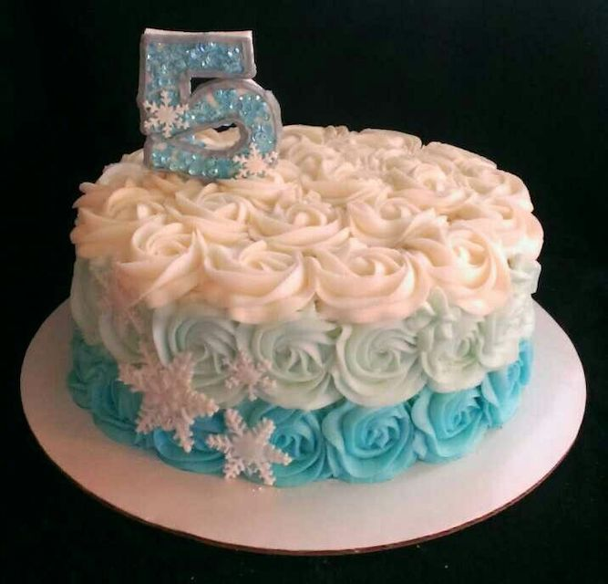 Frozen ombre rose cake