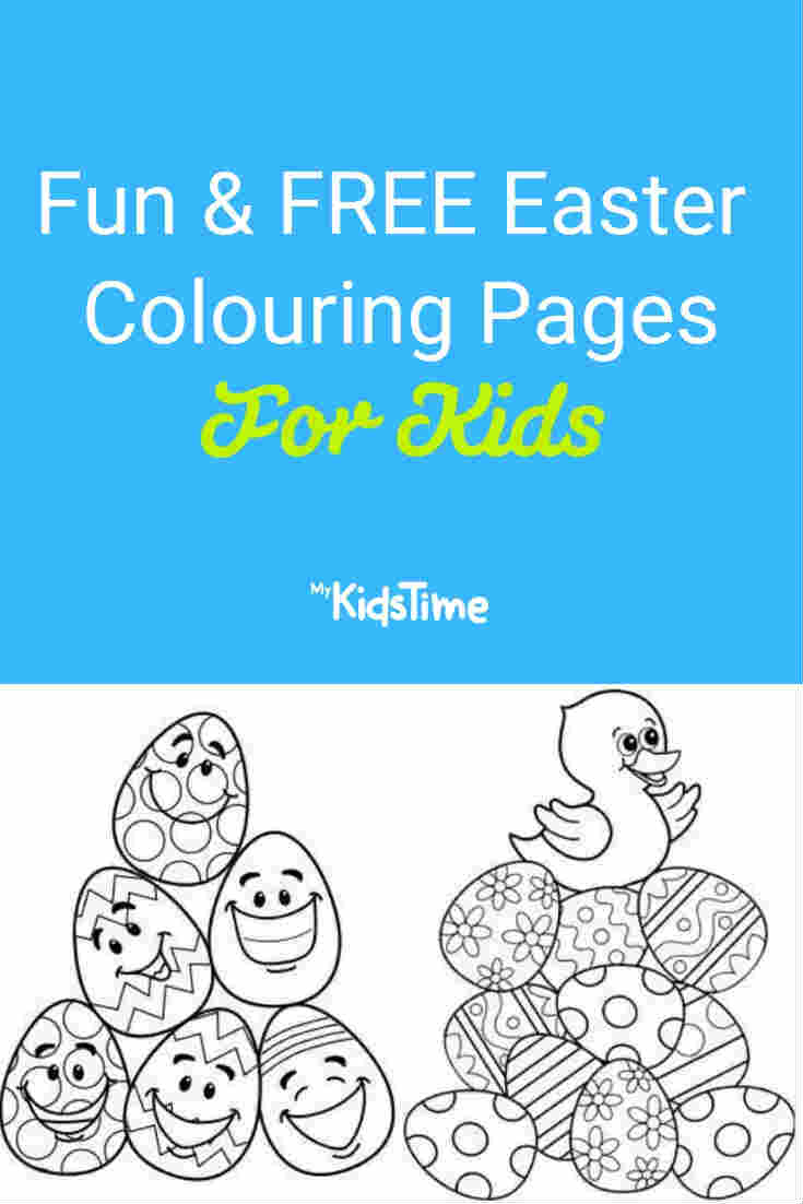 Fun and FREE Easter Colouring Pages for Kids - Mykidstime