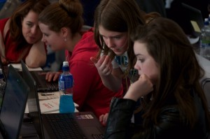 Niamh Scanlon mentoring Girls Hacks