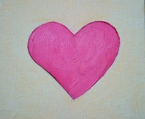 Canvas Painting heart