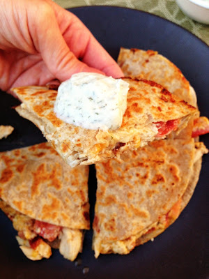 chicken bacon quesadillas