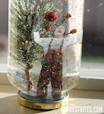 Christmas Craft Snow Globe from Ourbestbites