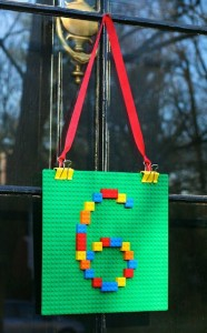 door decoration from lego