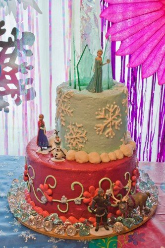 frozen cake topper
