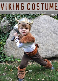 Viking Costume from I am a momma hear me roar