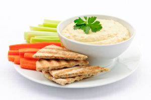 Easy Snack Cracker Toppings Hummus