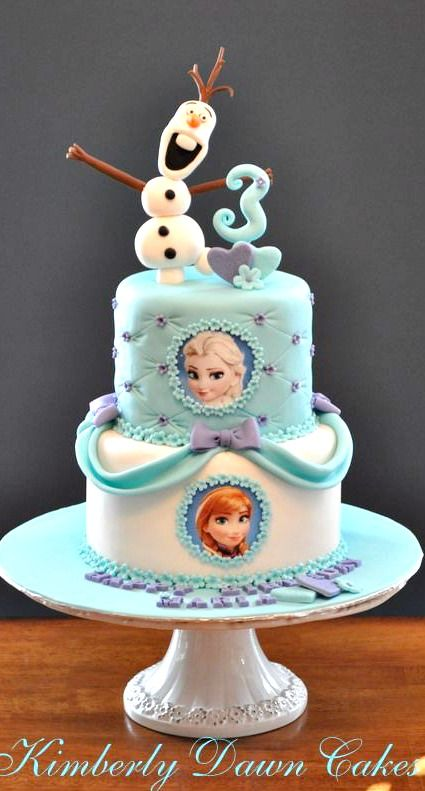of the Coolest Frozen Birthday Cakes Ever