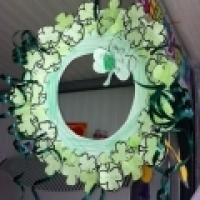 St Patricks Day Craft Shamrock Wreath