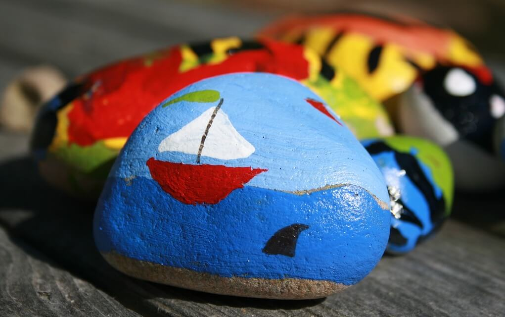 Eco friendly ways to amuse the kids at home this summer painted rocks