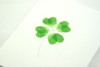 St Patricks Day Crafts shamrock-fingerprints