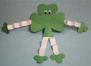 St Patricks Day Crafts Shamorock Man