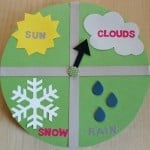Spring Crafts for Kids weather clock