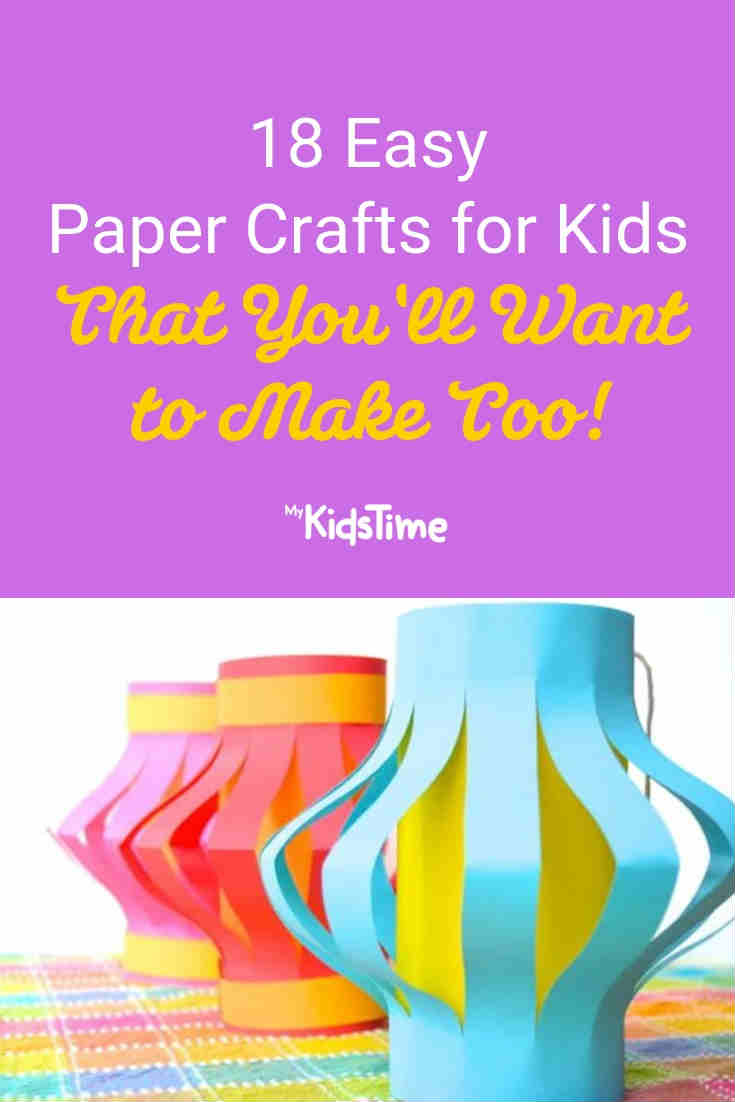 18 easy paper Crafts for kids - Mykidstime