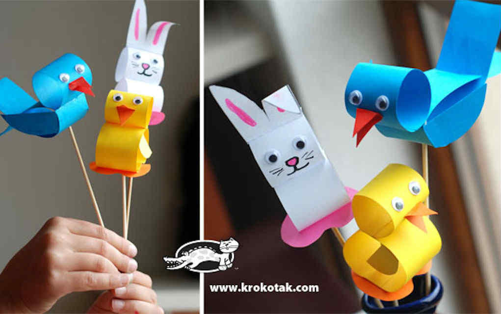Easter animals paper crafts - Mykidstime