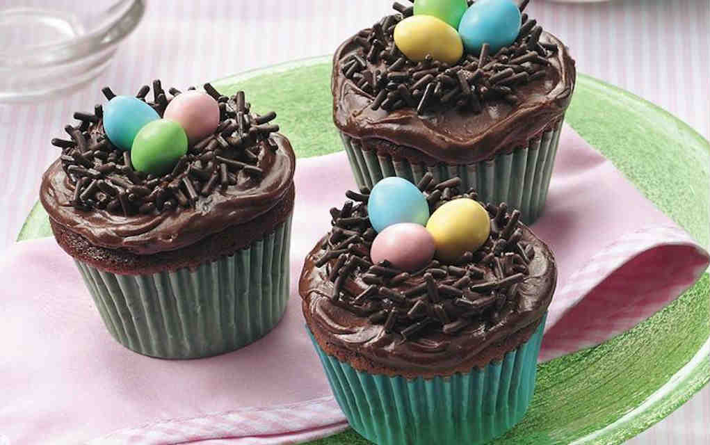 Easter nest cupcake for Easter cupcakes - Mykidstime