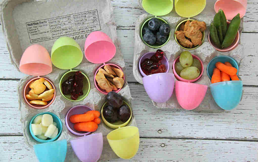 Egg carton lunch for Easter hacks - Mykidstime