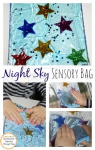 Night sky sensory bag