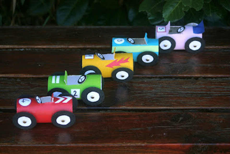 Racing cars paper crafts - Mykidstime
