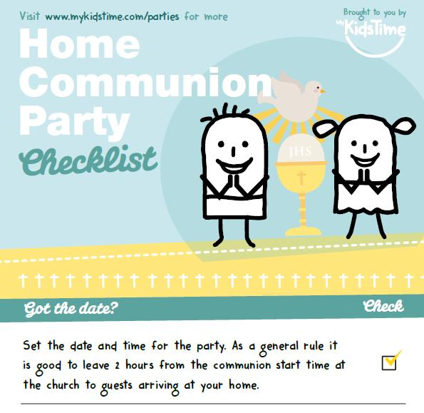 Free Checklist First Communion Party Ideas For Best Home Celebration