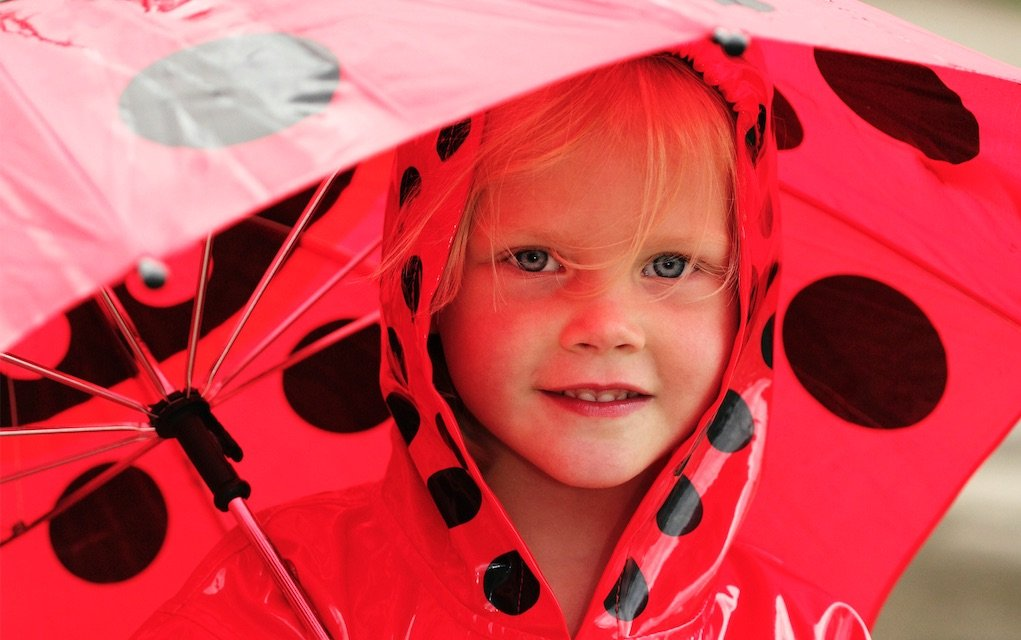 Outdoor rainy day activities girl out in the rain