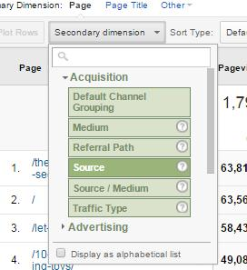 google analytics adding source