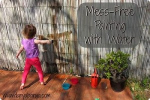 mess free painting with water