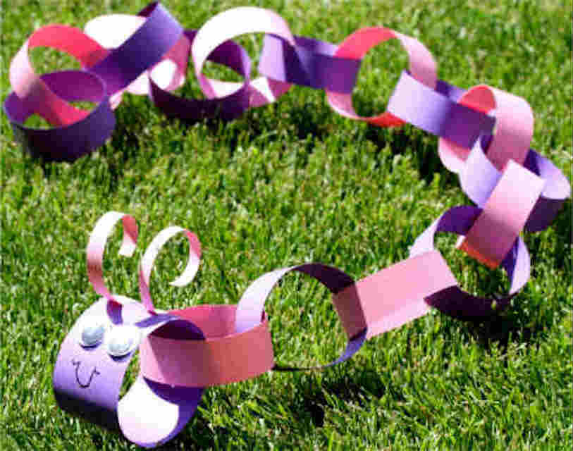 Paper caterpillar paper crafts - Mykidstime
