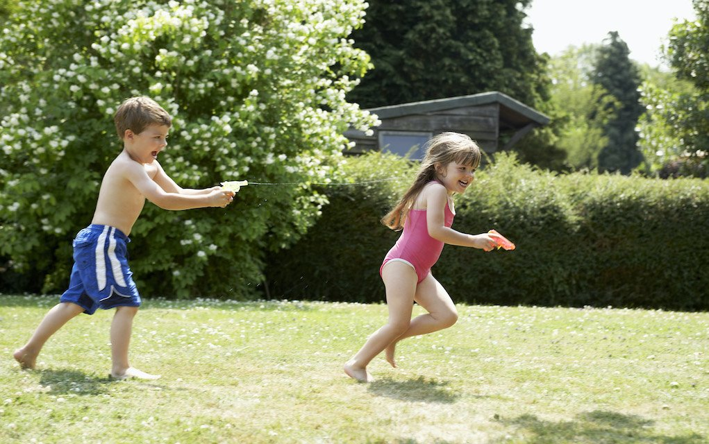 wicked water games for kids for the garden water chase