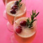 cranberry pear ginger fizz