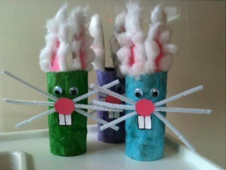 Easter bunnies for Easter crafts for toddlers - Mykidstime