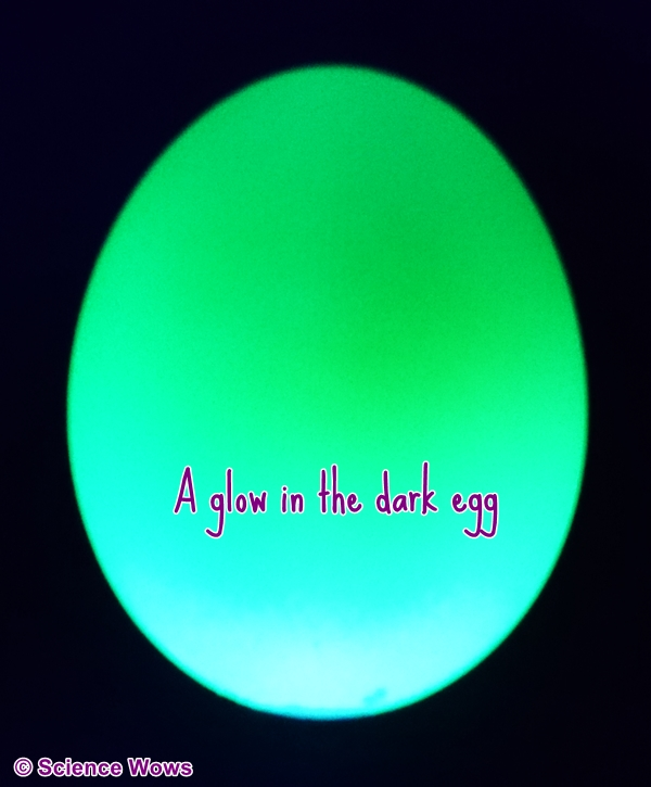 Glow in the dark egg