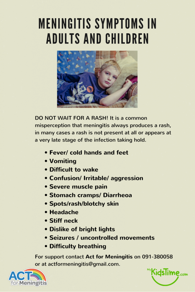 Meningitis symptoms in adults and