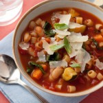 Minestrone soup with beans