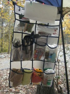 shoe organiser for camping