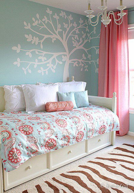 Coral And Blue Bedroom 14 Glorious Girls Bedroom Ideas That Aren T Just  Boring Pink . Coral And Blue Bedroom ...
