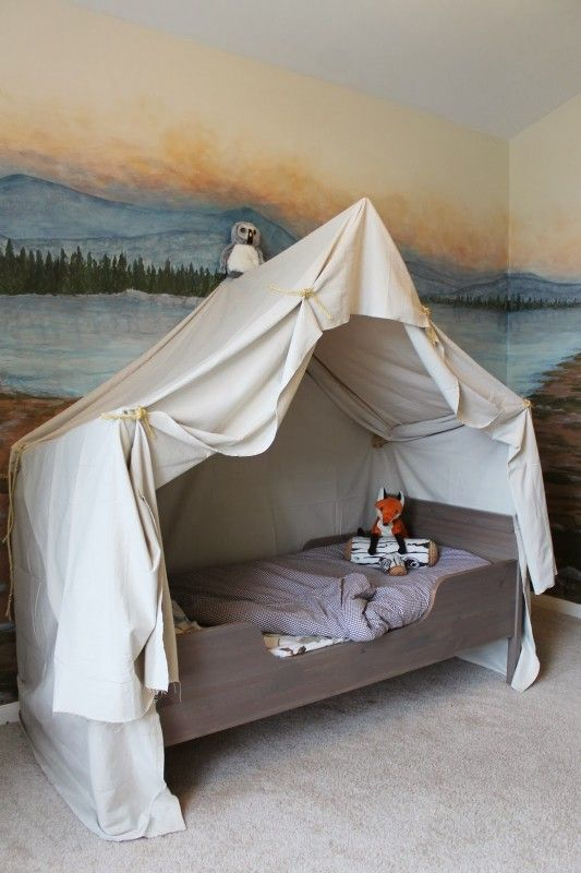 camping canopy bed - remodelaholic