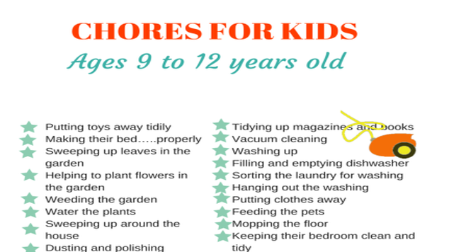 40 Chores For Kids Depending On Their Age