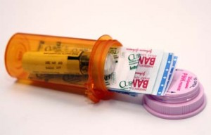 first aid kit prescription bottle