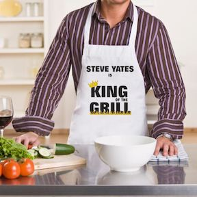 gift ideas for father's day personalised apron