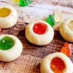 Gummy bear thumb print cookies
